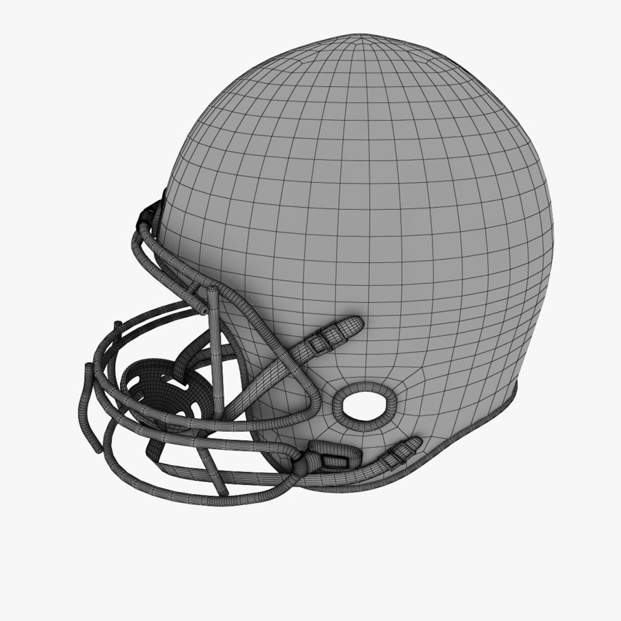 American Football Helmet royalty-free 3d model - Preview no. 13