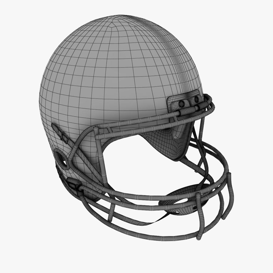 American Football Helmet royalty-free 3d model - Preview no. 11