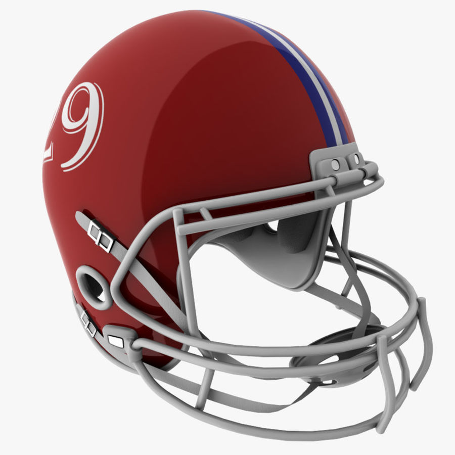 American Football Helmet royalty-free 3d model - Preview no. 1