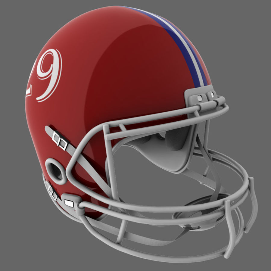 American Football Helmet royalty-free 3d model - Preview no. 2