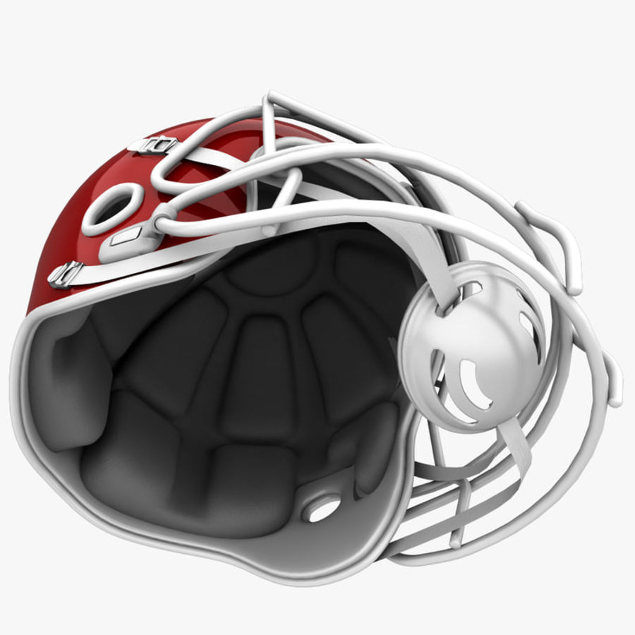 American Football Helmet royalty-free 3d model - Preview no. 10