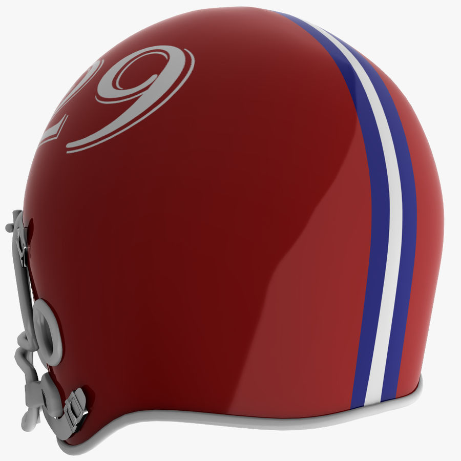American Football Helmet royalty-free 3d model - Preview no. 5