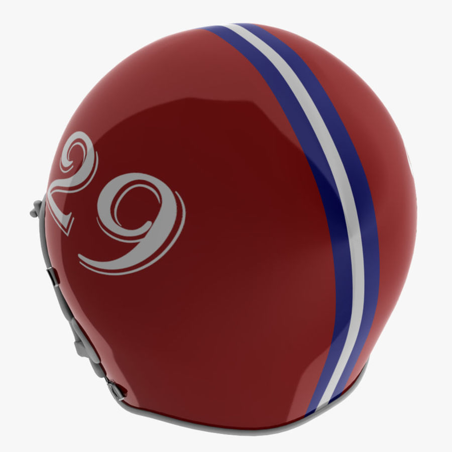 American Football Helmet royalty-free 3d model - Preview no. 9