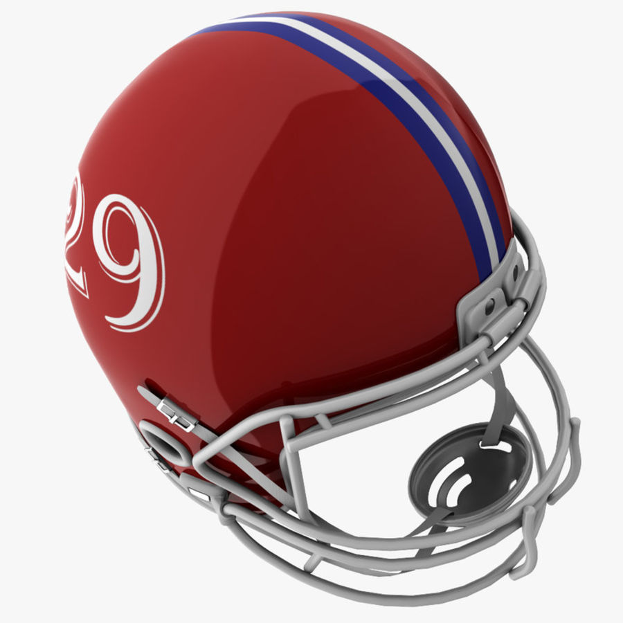 American Football Helmet royalty-free 3d model - Preview no. 7