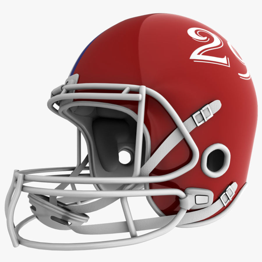 American Football Helmet royalty-free 3d model - Preview no. 4