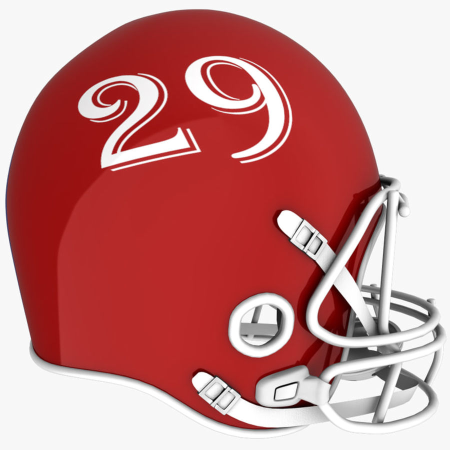 American Football Helmet royalty-free 3d model - Preview no. 6