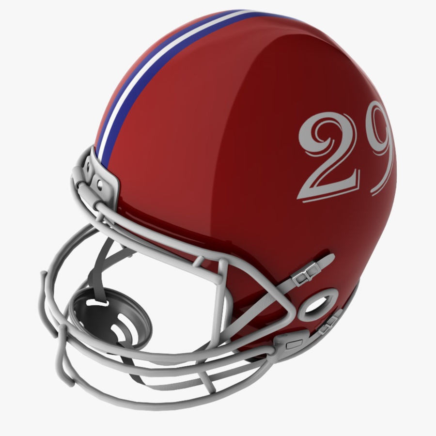 American Football Helmet royalty-free 3d model - Preview no. 8