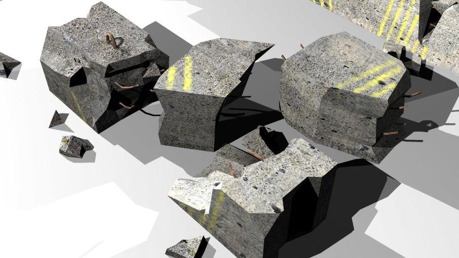 Concrete block royalty-free 3d model - Preview no. 4