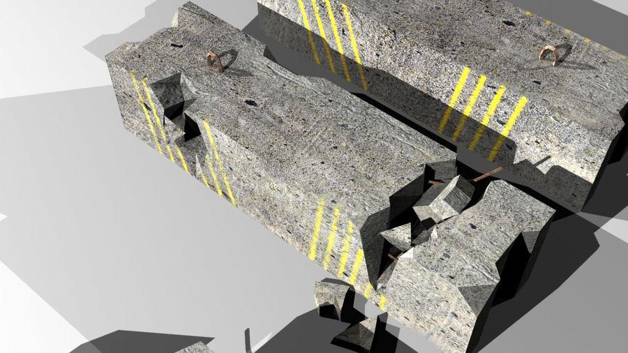 Concrete block royalty-free 3d model - Preview no. 5