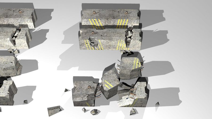 Concrete block royalty-free 3d model - Preview no. 3