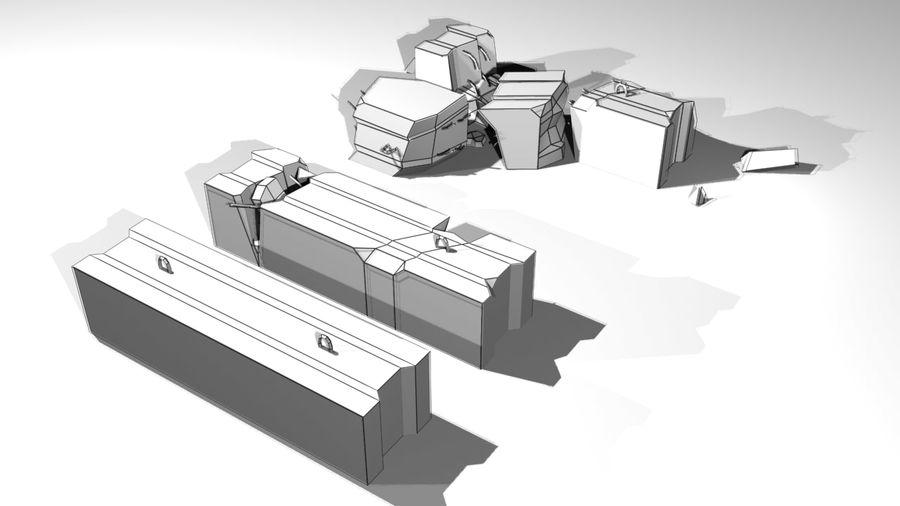 Concrete block royalty-free 3d model - Preview no. 9