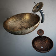 Waschbecken mit Wasser 3d model