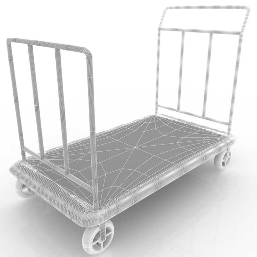 Hotel Cart royalty-free 3d model - Preview no. 6