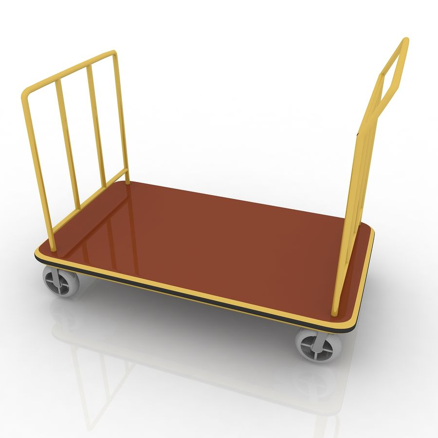 Hotel Cart royalty-free 3d model - Preview no. 1