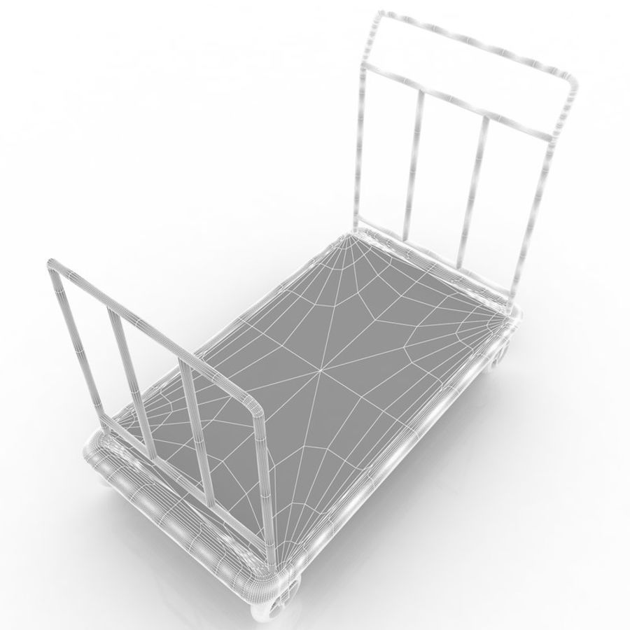 Hotel Cart royalty-free 3d model - Preview no. 8