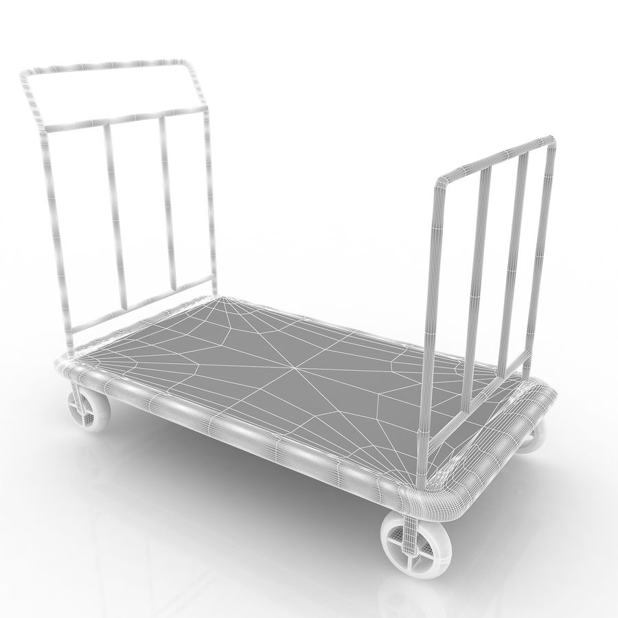 Hotel Cart royalty-free 3d model - Preview no. 7