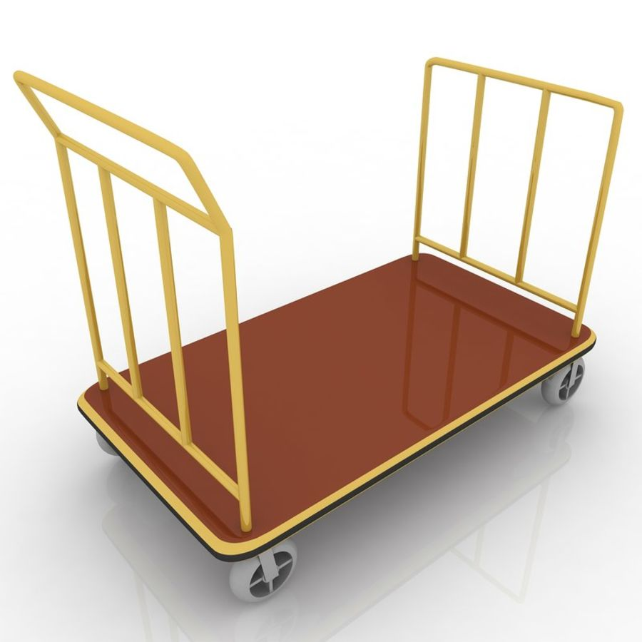 Hotel Cart royalty-free 3d model - Preview no. 2