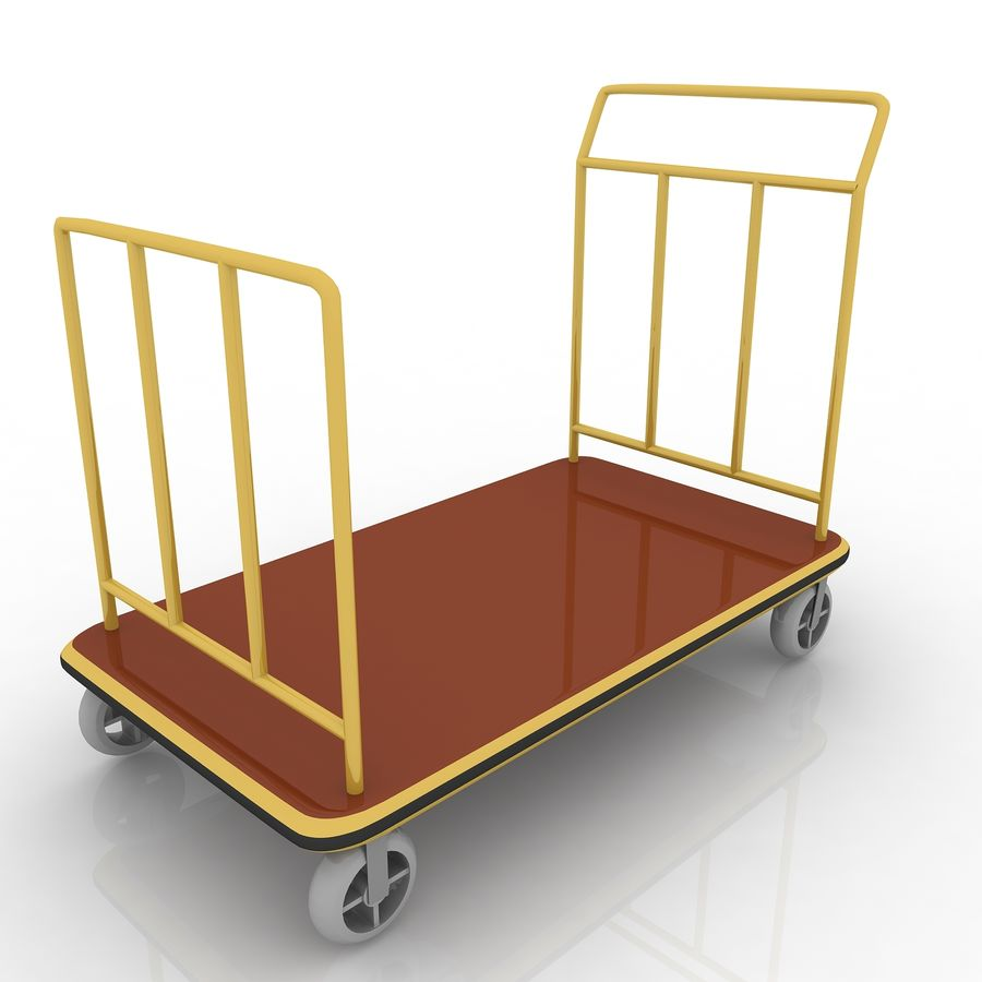 Hotel Cart royalty-free 3d model - Preview no. 5