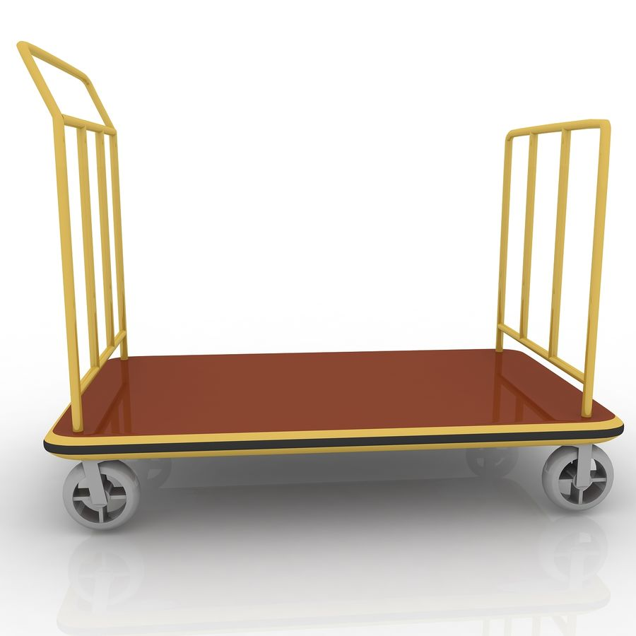 Hotel Cart royalty-free 3d model - Preview no. 3