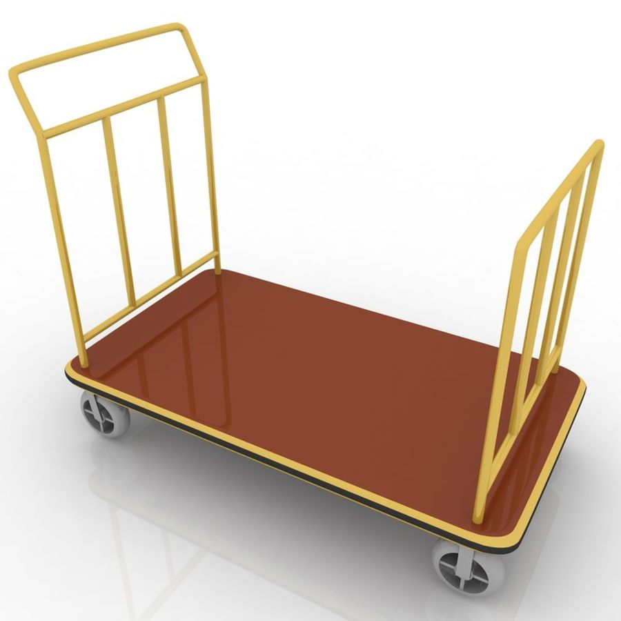Hotel Cart royalty-free 3d model - Preview no. 4