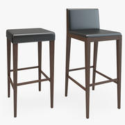 Wooden Bar Chair Stool 3d model
