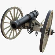 field cannon 3d model