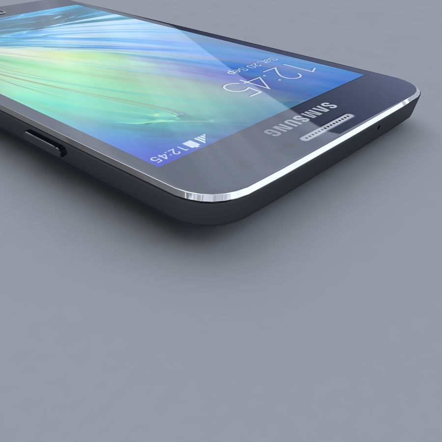 Samsung Galaxy A3 royalty-free 3d model - Preview no. 3
