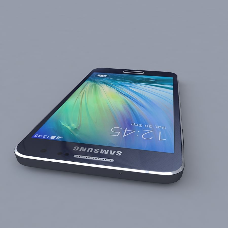 Samsung Galaxy A3 royalty-free 3d model - Preview no. 2