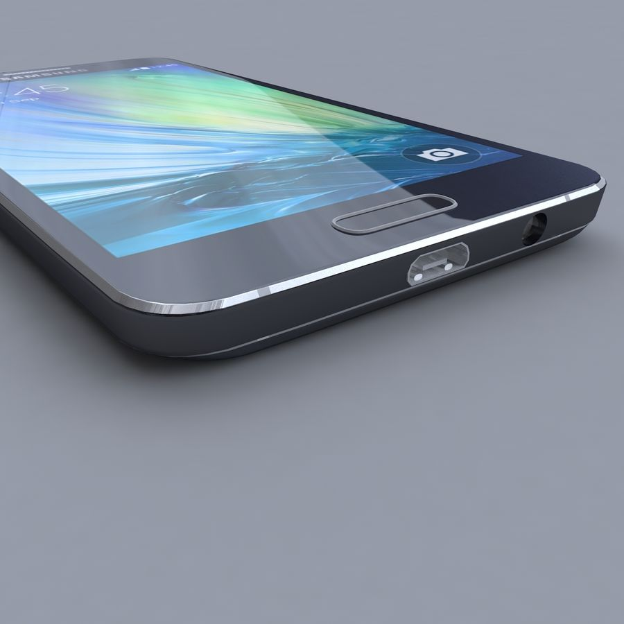 Samsung Galaxy A3 royalty-free 3d model - Preview no. 4