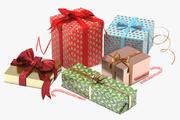 Kolekcja prezent na Boże Narodzenie 3d model