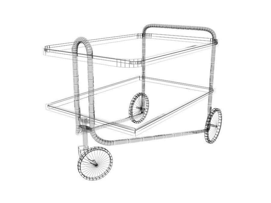 Breuer serving cart royalty-free 3d model - Preview no. 5