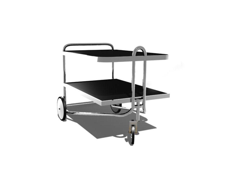 Breuer serving cart royalty-free 3d model - Preview no. 4