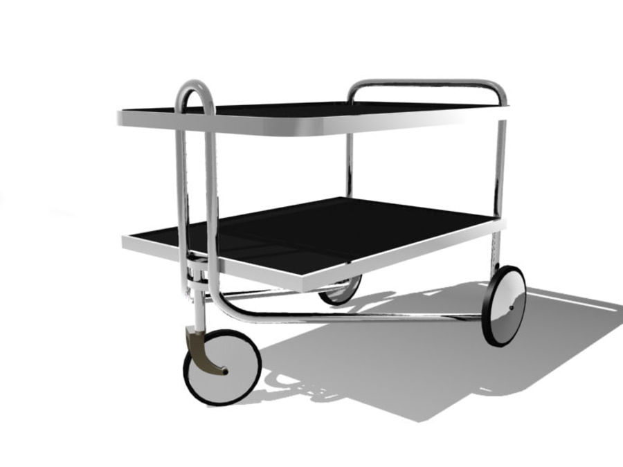 Breuer serving cart royalty-free 3d model - Preview no. 1