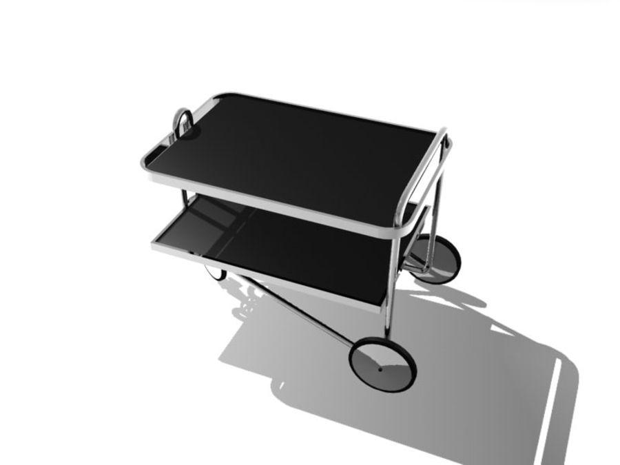 Breuer serving cart royalty-free 3d model - Preview no. 3