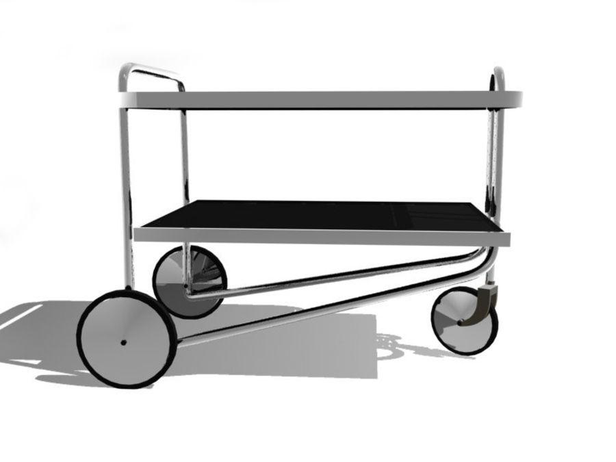 Breuer serving cart royalty-free 3d model - Preview no. 2