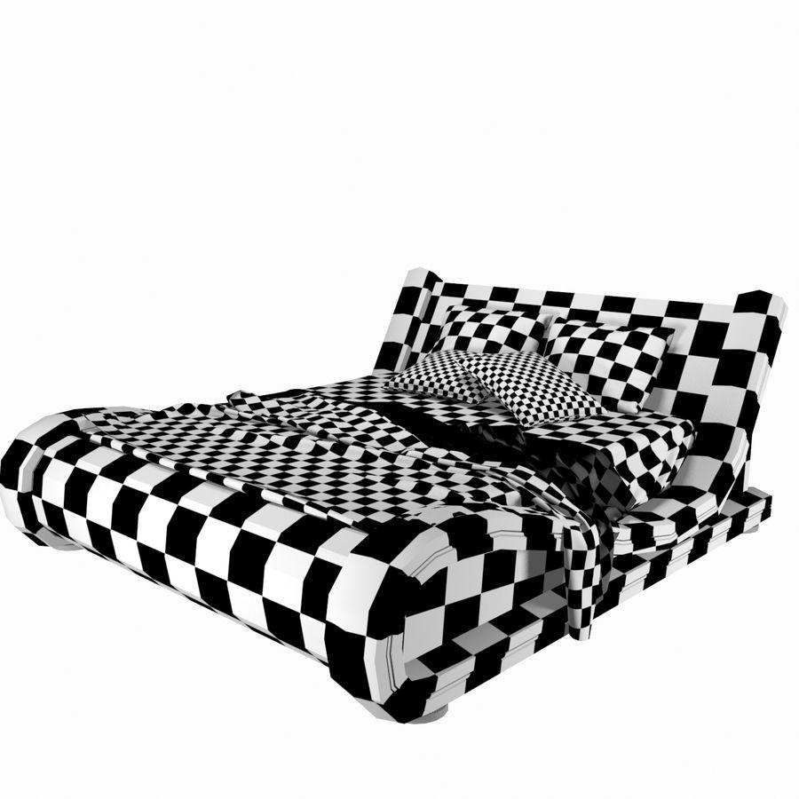 La cama de cuero royalty-free modelo 3d - Preview no. 11