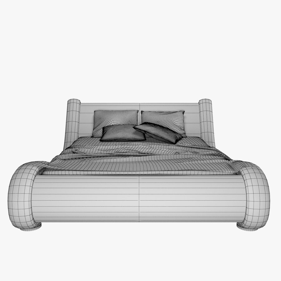 La cama de cuero royalty-free modelo 3d - Preview no. 9