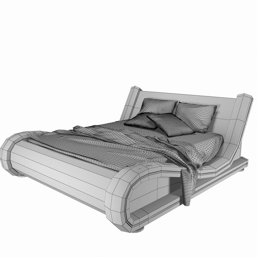 The Leather Bed royalty-free 3d model - Preview no. 7