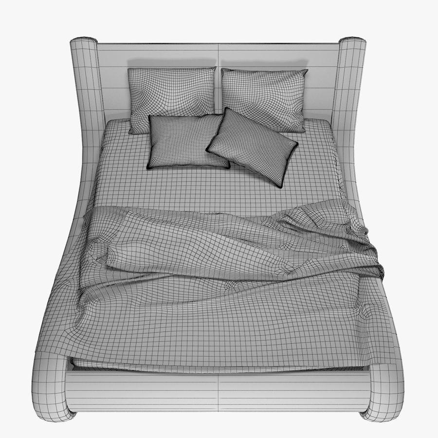 La cama de cuero royalty-free modelo 3d - Preview no. 8