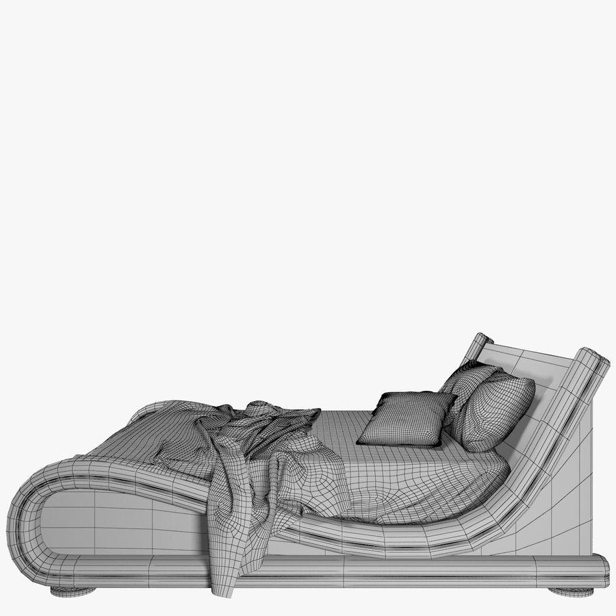 La cama de cuero royalty-free modelo 3d - Preview no. 10