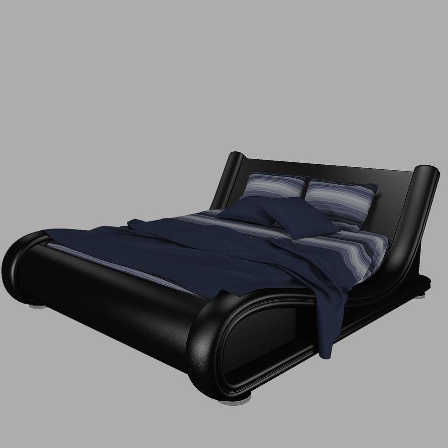 La cama de cuero royalty-free modelo 3d - Preview no. 2