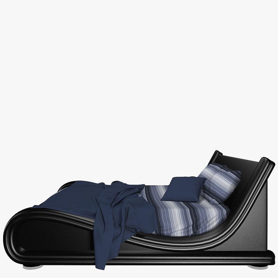 La cama de cuero royalty-free modelo 3d - Preview no. 4