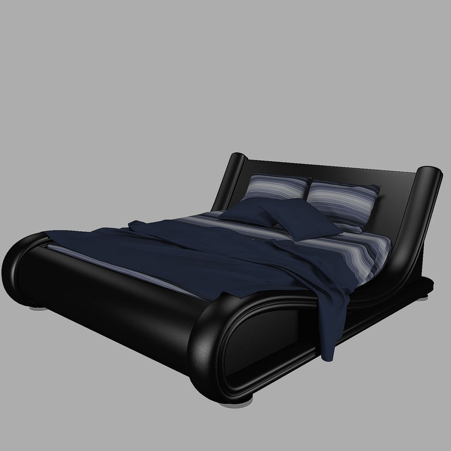The Leather Bed royalty-free 3d model - Preview no. 2