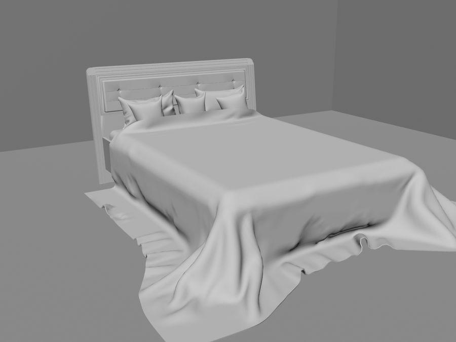 상세 침대 royalty-free 3d model - Preview no. 1