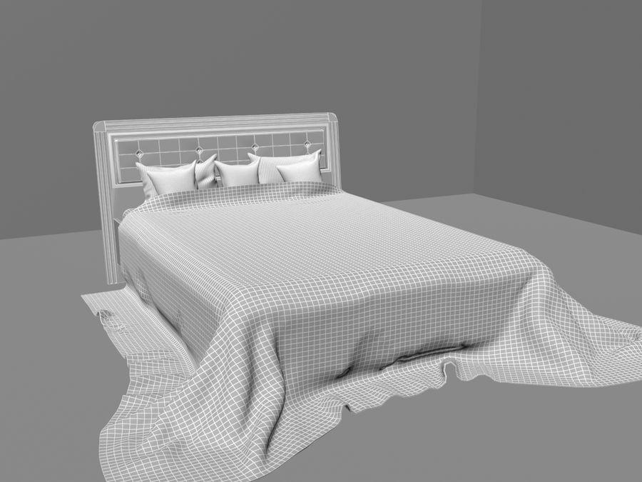 상세 침대 royalty-free 3d model - Preview no. 4