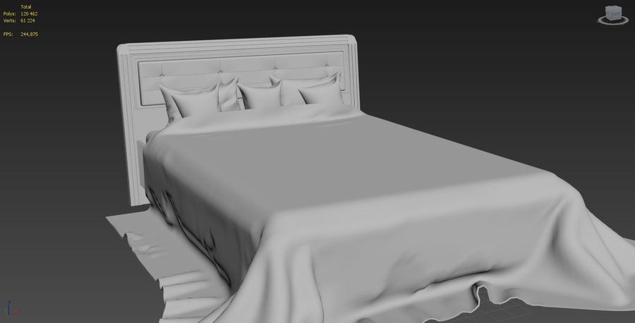 상세 침대 royalty-free 3d model - Preview no. 5