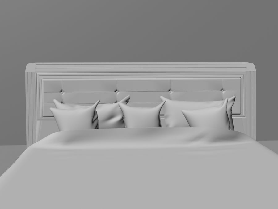 상세 침대 royalty-free 3d model - Preview no. 3