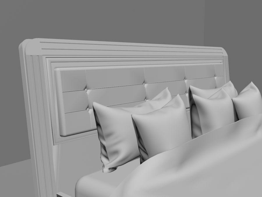 상세 침대 royalty-free 3d model - Preview no. 2