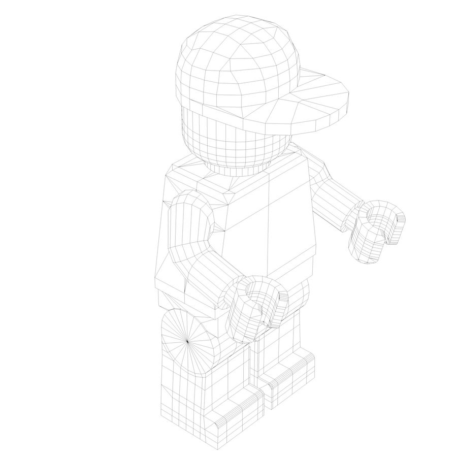 Lego Man royalty-free 3d model - Preview no. 9
