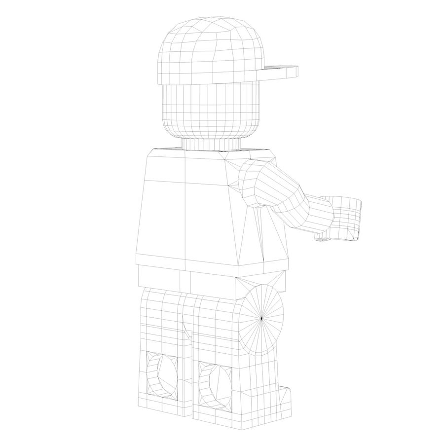 Lego Man royalty-free 3d model - Preview no. 10